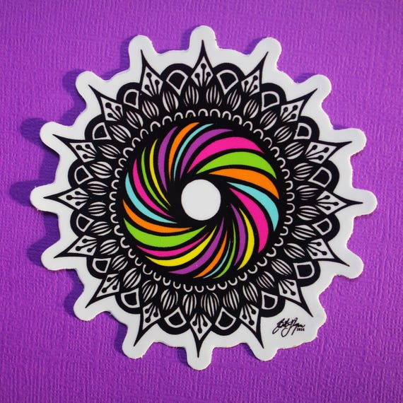 Rainbow Swirl Sticker (WATERPROOF)