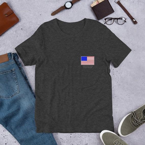 Flag Pocket Design Unisex T-Shirt