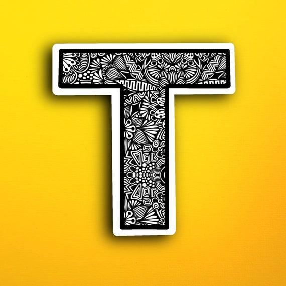 Small Block Letter T Sticker (WATERPROOF)
