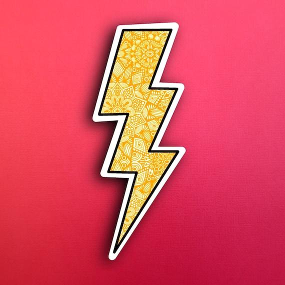Lightening Bolt Sticker (WATERPROOF)