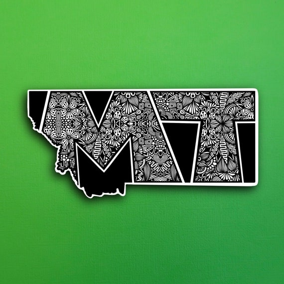 State Montana Sticker (WATERPROOF)