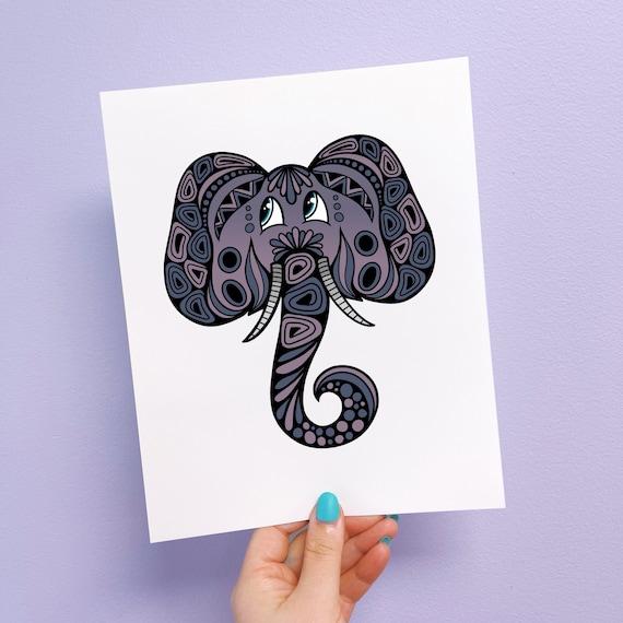 Eli the Elephant Print