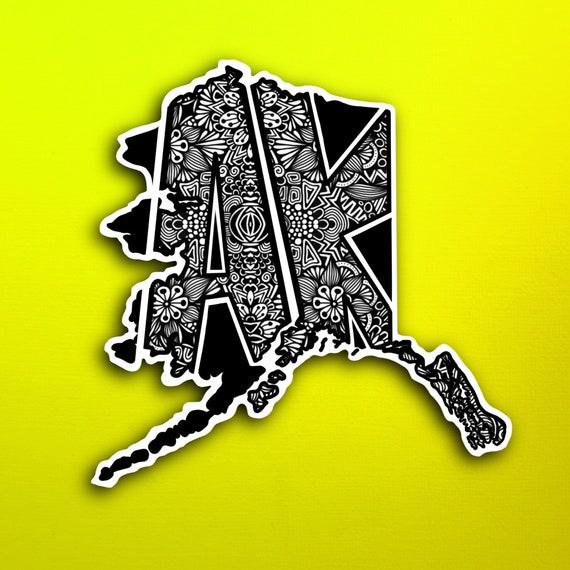 State Alaska Sticker (WATERPROOF)