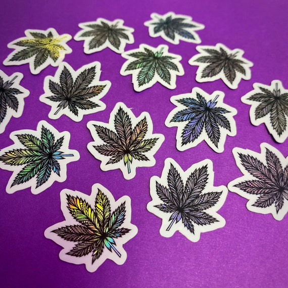 Mini Pot Leaf Sticker (WATERPROOF)