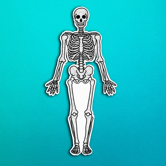 Skeleton Sticker (WATERPROOF)