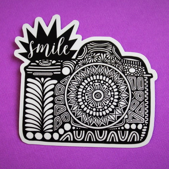 Smile Camera Sticker (WATERPROOF)
