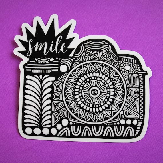 Smile Camera Sticker (WATERPROOF)