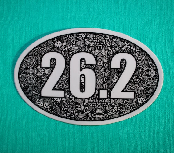 26.2 Miles Sticker (WATERPROOF)