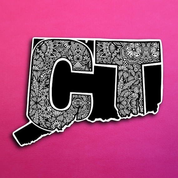 Connecticut Sticker (PRE-ORDER) (WATERPROOF)