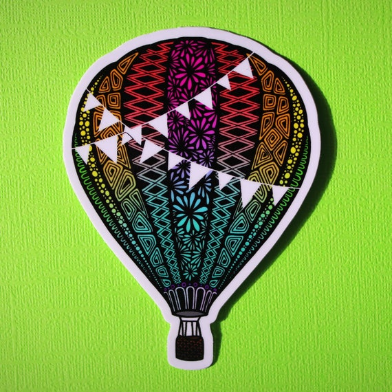 Hot Air Balloon Sticker (WATERPROOF)