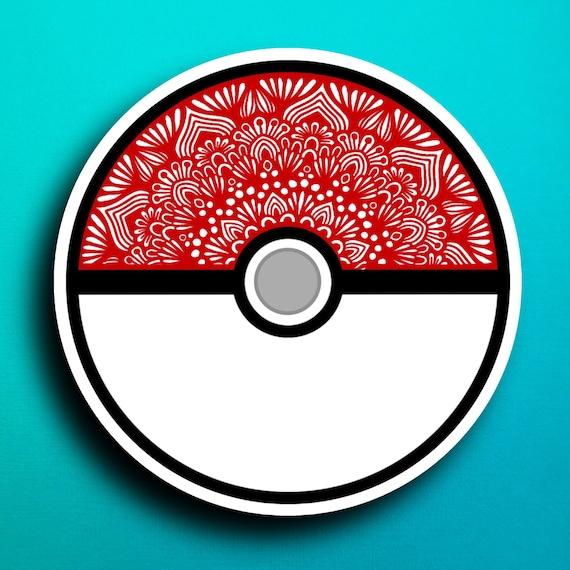 Pokemon Ball Sticker (WATERPROOF)