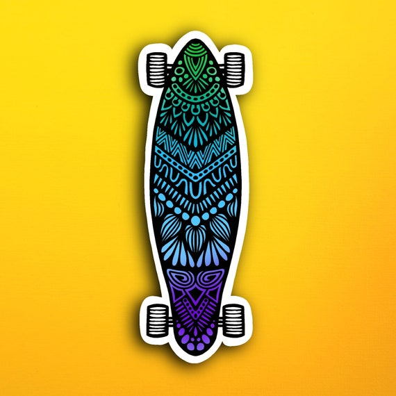 Longboard  Sticker (WATERPROOF)