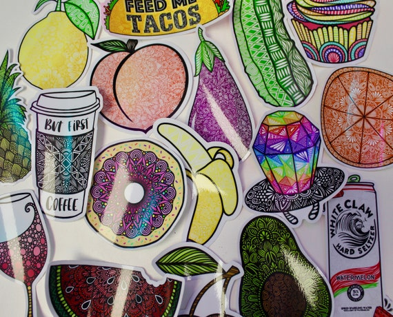 Food Themed Mystery Pack (5 waterproof stickers)