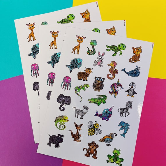 Mini Zenimals Sticker Sheet (WATERPROOF)