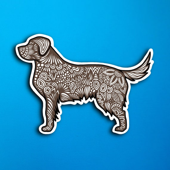 Chocolate Lab Sticker (WATERPROOF)