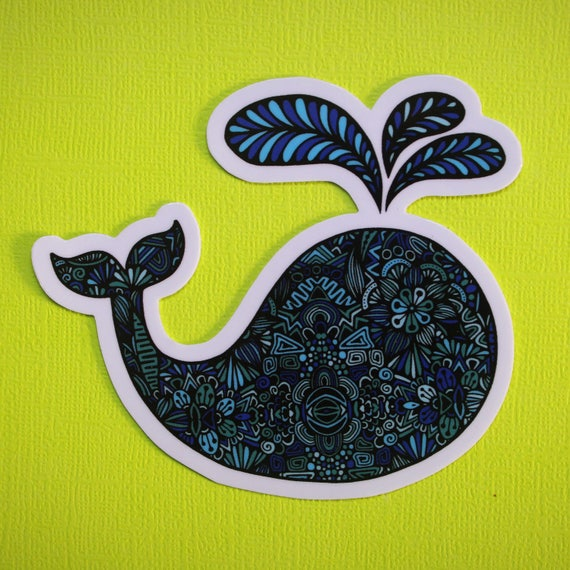 Whale Sticker (WATERPROOF)