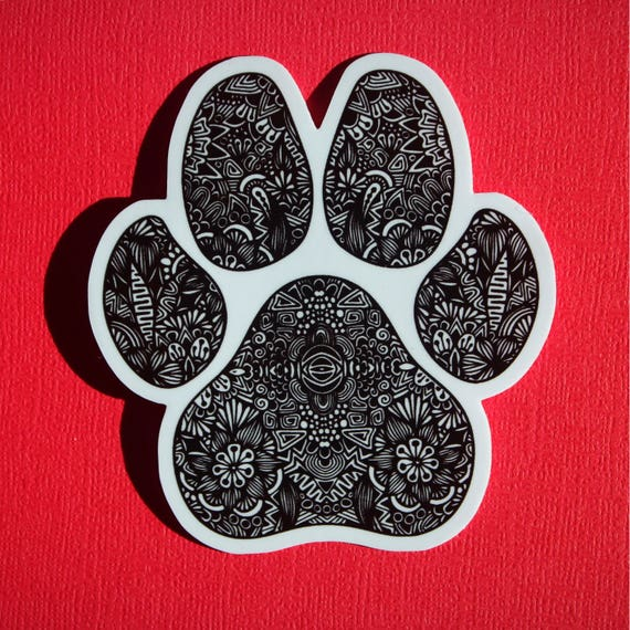 Paw Print Sticker (WATERPROOF)
