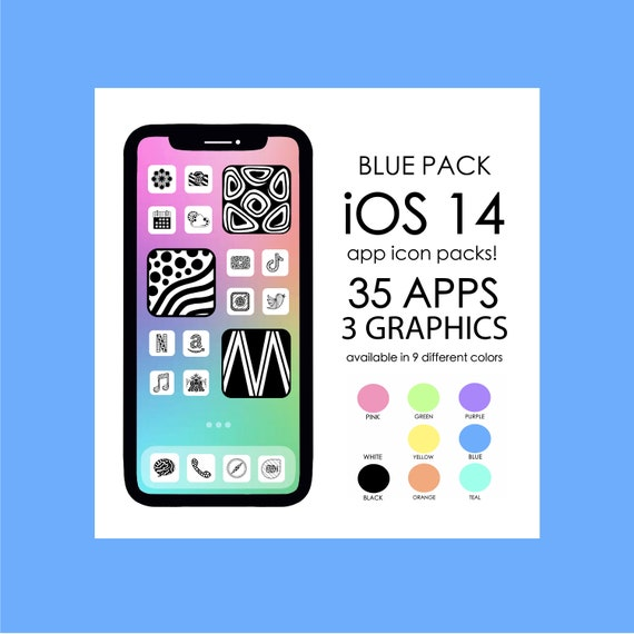 BLUE iOS 14 App Icons!