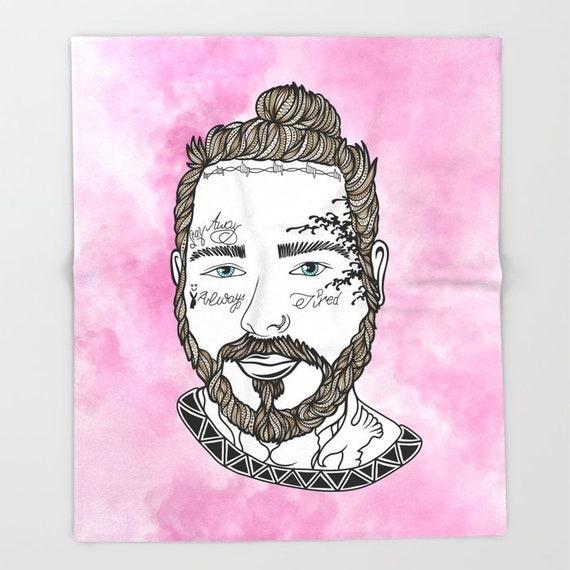 Pink Posty Throw Blanket
