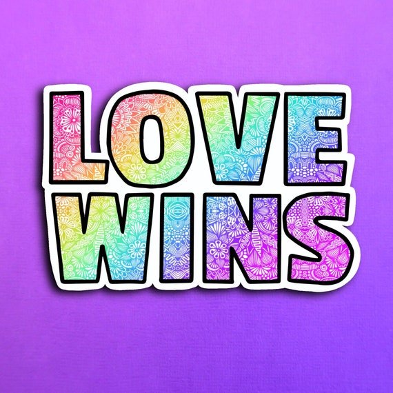 Love Wins Sticker (WATERPROOF)