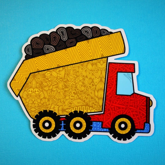 Dump Truck Sticker (WATERPROOF)