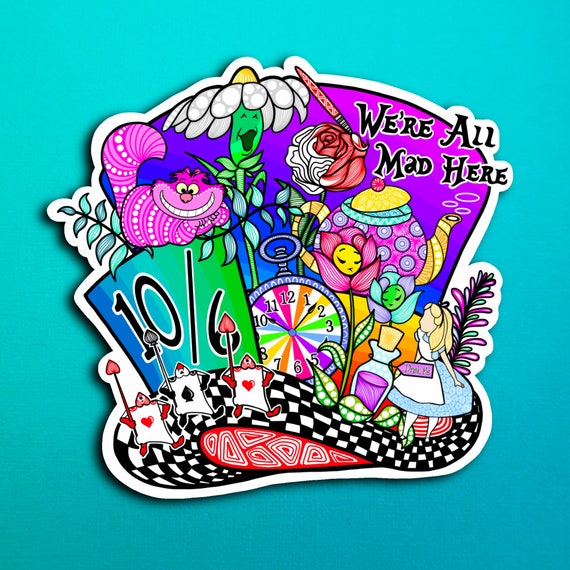 Mad Hatter Sticker (WATERPROOF)