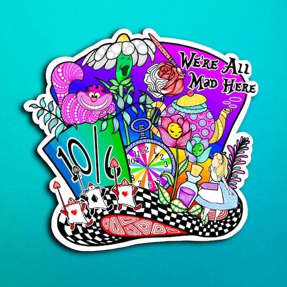 Mad Hatter Sticker (WATERPROOF)