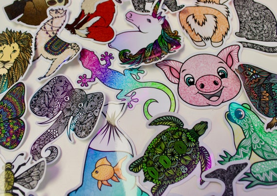 Animal Themed Mystery Pack (5 waterproof stickers)