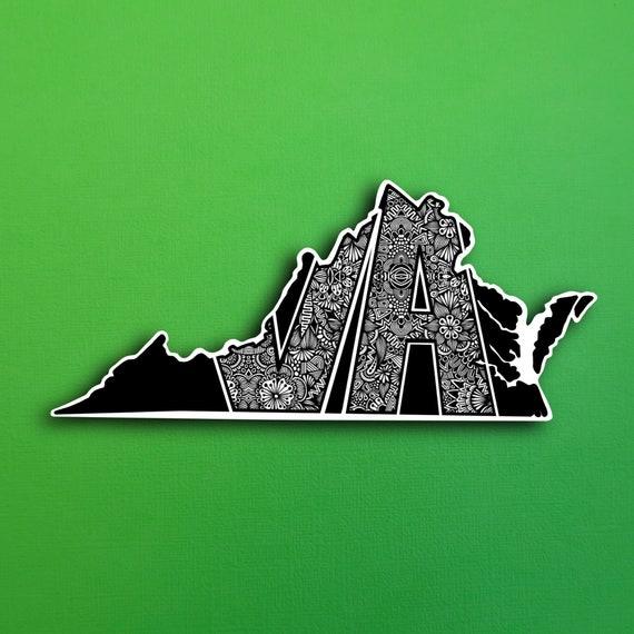 State Virginia Sticker (WATERPROOF)