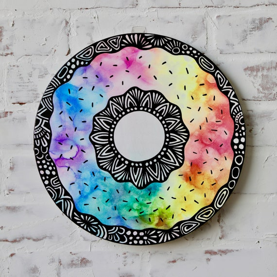 Canvas Donut Alcohol Ink