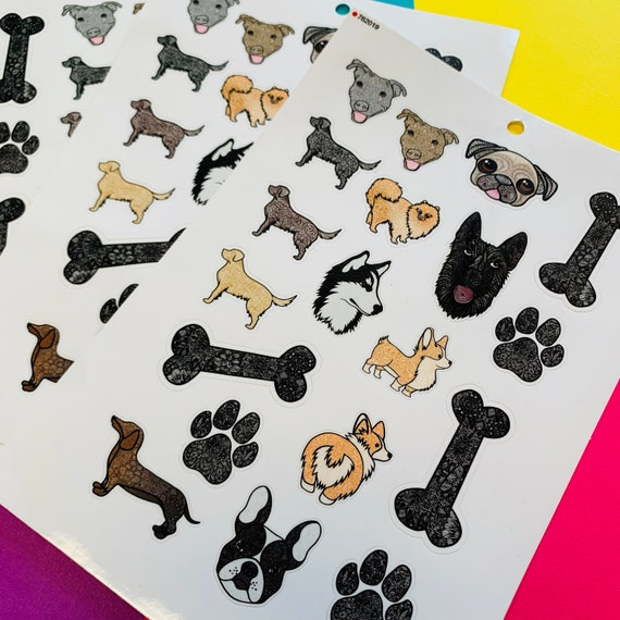 Mini Dog Sticker Sheet (WATERPROOF)