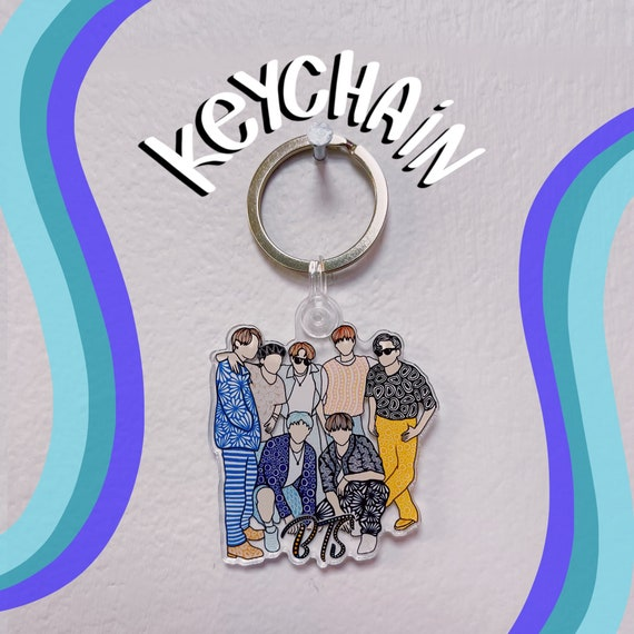 BTS Acrylic Keychain