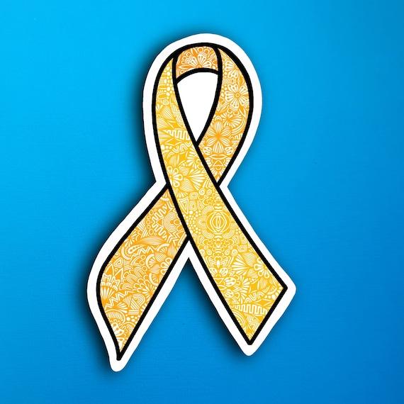 Yellow Ribbon Sticker (WATERPROOF)