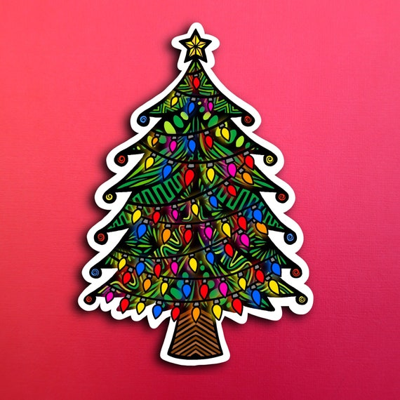 Christmas Tree Sticker (WATERPROOF)