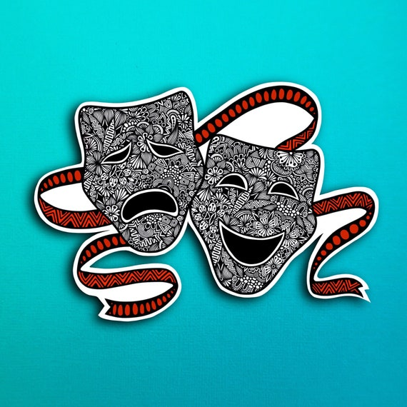 Drama Masks Sticker (WATERPROOF)