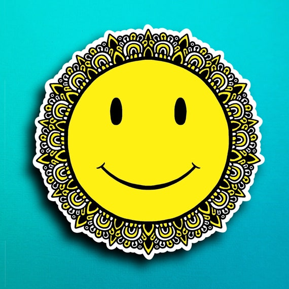 Smiley Face Sticker (WATERPROOF)