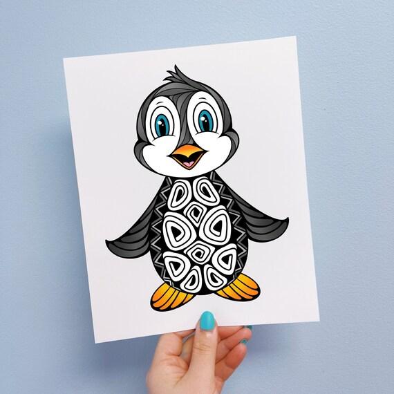 Pari the Penguin Print