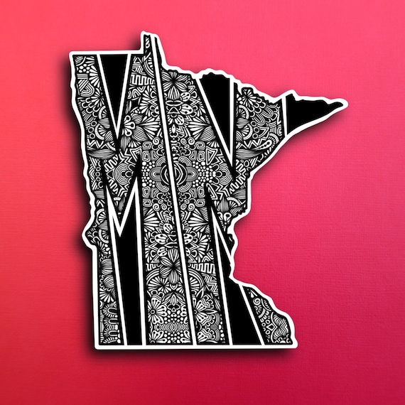 State Minnesota Sticker (WATERPROOF)