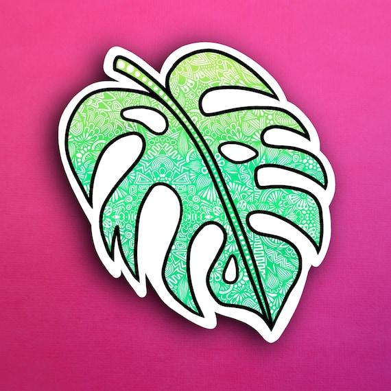Palm Leaf Sticker (WATERPROOF)