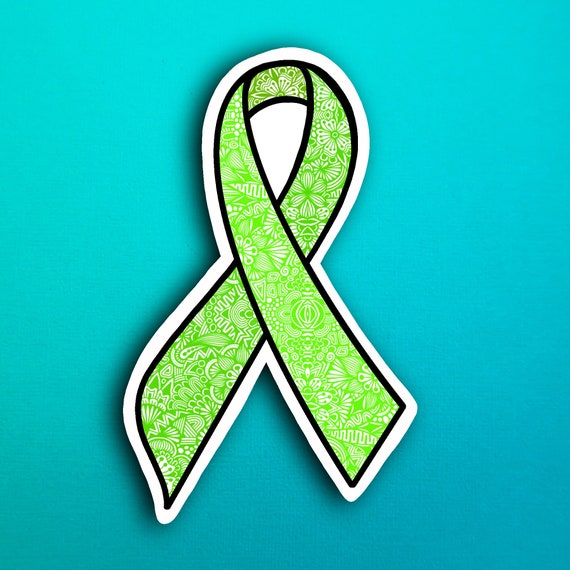 Green Ribbon Sticker (WATERPROOF)