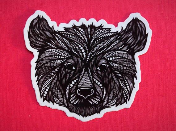 Bear Head Sticker (WATERPROOF)
