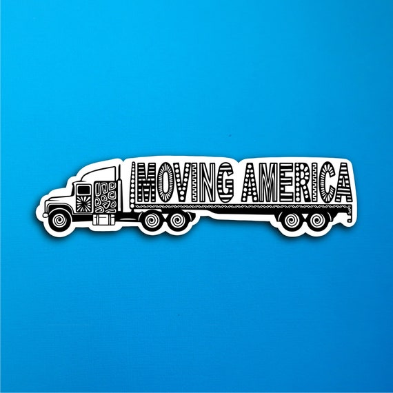 Moving America Sticker (WATERPROOF)