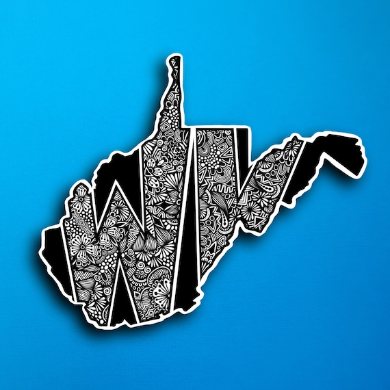 State West Virginia Sticker (WATERPROOF)