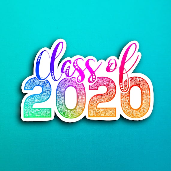 Rainbow Class of 2020 Sticker (WATERPROOF)