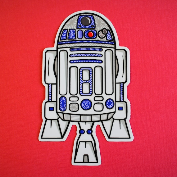 R2D2 Sticker (WATERPROOF)