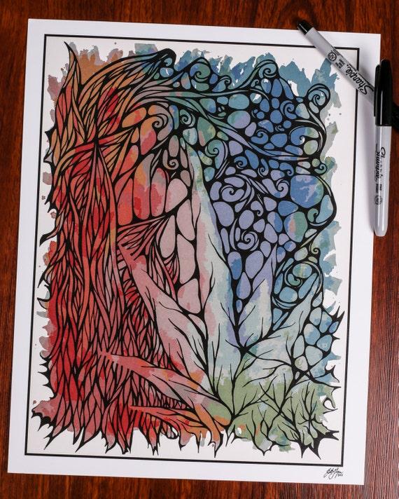 Zentanlge - Watercolor Flow