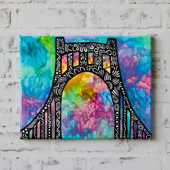 Canvas Bridge Crayon Melt