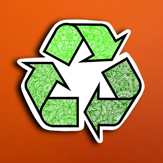 Recycle Sticker (WATERPROOF)