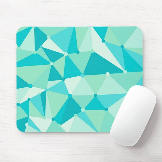 Teal Triangle Mouse Pad
