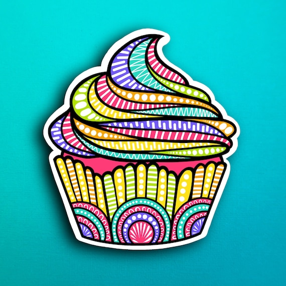 Cupcake Sticker (WATERPROOF)